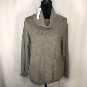 Chicos Turtle Neck Sweater Knit Top